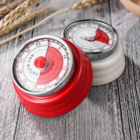 Cucina Countdown Timer Dapur Masak Mechanical Cooking Alarm - T06 - Red