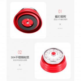 Cucina Countdown Timer Dapur Masak Mechanical Cooking Alarm - T06 - Red - 7