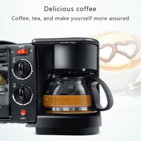 CUKYI Breakfast Machine 3 in 1 Toaster Oven Mesin Kopi Grill Pan 640+450W - FFF1601 - Black - 7