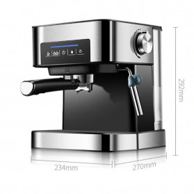 Pink Bunny Mesin Kopi Semi Automatic Espresso Coffe Machine 1.6 Liter - CM6863 - Black - 12