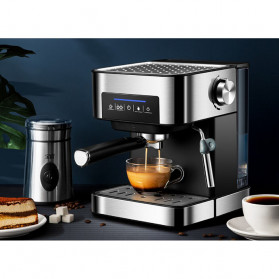 Pink Bunny Mesin Kopi Semi Automatic Espresso Coffe Machine 1.6 Liter - CM6863 - Black - 4