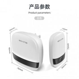 Boying Bell Pintu Digital Wireless Doorbell Touch Music Long Distance - B815 - White - 7
