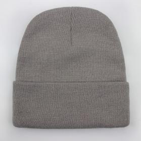 Yesafe Topi Kupluk Rajut Beanie Wool Blends Gorro Ski Caps Unisex - MZ238 - Gray