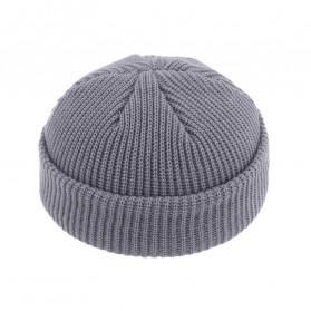 MsDream Topi Kupluk Rajut Beanie Wool Brimless Hats  HIP HOP Unisex - MZ237 - Gray