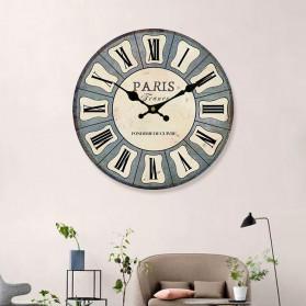 Ainivia Jam Dinding Quartz Creative Design Model Roman - MM63WC - White - 3