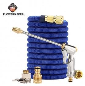 FLOWERS SPRAL Magic HOSE Selang Cuci Mobil Fleksibel 5 Meter - FS422 - Blue - 10
