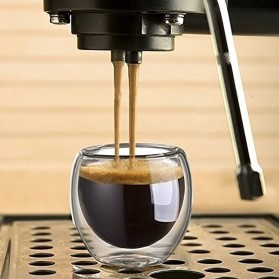 One Two Cups Gelas Cangkir Kopi Anti Panas Double-Wall Glass Love Series 240ml - Transparent - 5