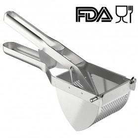 LMETJMA Alat Peras Jeruk Kentang Wortel Potato Ricer Masher Pressure Stainless Steel - KC0154 - Silver - 5