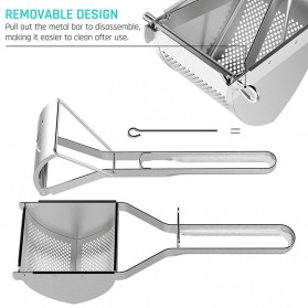 LMETJMA Alat Peras Jeruk Kentang Wortel Potato Ricer Masher Pressure Stainless Steel - KC0154 - Silver - 6