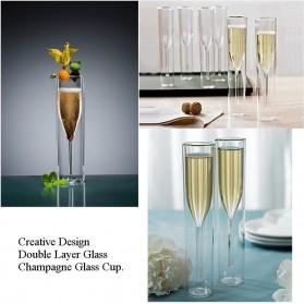 LOULONG Gelas Cangkir Double Wall Borosilicate Glass Model Champagne 115ml - CD1002 - Transparent - 2