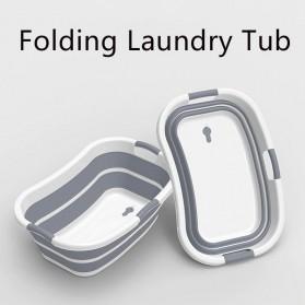 XINYU Baskom Ember Lipat Laundry Water Bucket Foldable Collapsible - ZD037 - Gray - 2
