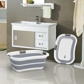 XINYU Baskom Ember Lipat Laundry Water Bucket Foldable Collapsible - ZD037 - Gray - 4