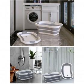 XINYU Baskom Ember Lipat Laundry Water Bucket Foldable Collapsible - ZD037 - Gray - 7