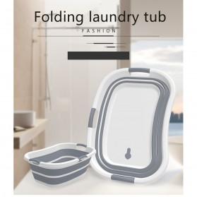 XINYU Baskom Ember Lipat Laundry Water Bucket Foldable Collapsible - ZD037 - Gray - 8