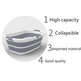XINYU Baskom Ember Lipat Laundry Water Bucket Foldable Collapsible - ZD037 - Gray - 9