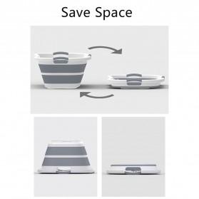 XINYU Baskom Ember Lipat Laundry Water Bucket Foldable Collapsible - ZD037 - Gray - 10