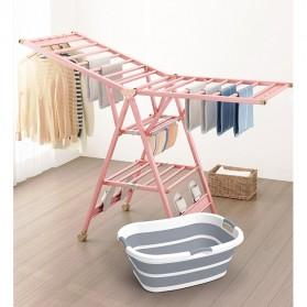 XINYU Baskom Ember Lipat Laundry Water Bucket Foldable Collapsible - ZD037 - Gray - 11