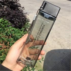 Swadicup Botol Minum Plastik Tabung Transparan 500ml - SWT500 - Black