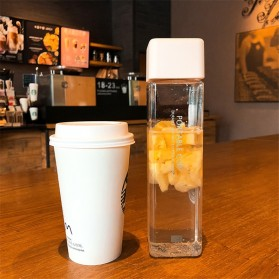 Swadicup Botol Minum Plastik Tabung Transparan 500ml - SWT500 - Black - 3