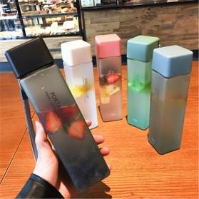 Swadicup Botol Minum Plastik Tabung Transparan 500ml - SWT500 - Black - 6