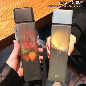 Swadicup Botol Minum Plastik Tabung Transparan 500ml - SWT500 - Black - 7