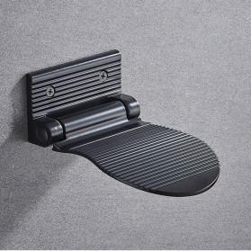 LIUYUE Pijakan Kaki Kamar Mandi Footrest Footstool Pedestal Bathroom Wall Mounted - LY3046 - Black