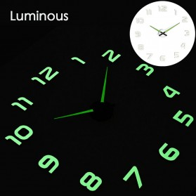 LUMINOVA Jam Dinding Besar DIY Giant Wall Clock Quartz Glow in The Dark 80-130cm - Lumi-004