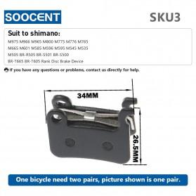 SOOCENT Brake Pads Rem Sepeda Mountain Bike for Shimano M975 M966 M965 - SZ911 - Black - 5