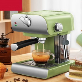 ZZUOM Mesin Kopi Semi Automatic Espresso 20 Bar Italian Coffee Machine 0.8 Liter - CM6867 - Green