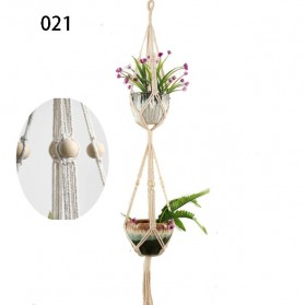 HomeStyle Tali Gantungan Pot Bunga Hias Tanaman Plant Hanger Wall Decoration - 021 - Beige