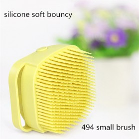 BWOHOPS Sikat Mandi Badan Bath Brush Soft Silicone with Soap Container 80ml - LDS17 - Yellow - 4