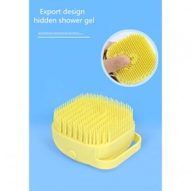 BWOHOPS Sikat Mandi Badan Bath Brush Soft Silicone with Soap Container 80ml - LDS17 - Yellow - 5