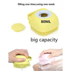 BWOHOPS Sikat Mandi Badan Bath Brush Soft Silicone with Soap Container 80ml - LDS17 - Yellow - 8