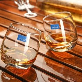 OCEAN Gelas Cangkir Rotatable Cone Wine Glass Cup 270ml - WJS121 - White - 5
