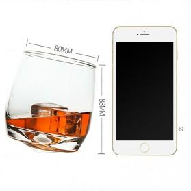 OCEAN Gelas Cangkir Rotatable Cone Wine Glass Cup 270ml - WJS121 - White - 6