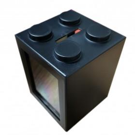 TOPINCN Aquarium Mini Lego Block 2 Side Windows 8x8x11cm - TOP3 - Black - 2