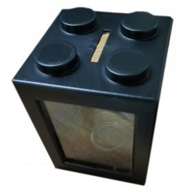 TOPINCN Aquarium Mini Lego Block 2 Side Windows 8x8x11cm - TOP3 - Black - 3