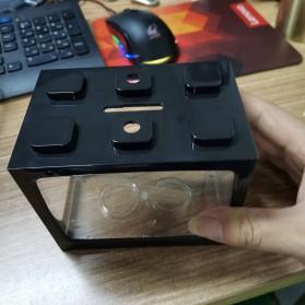TOPINCN Aquarium Mini Lego Block 4 Side Windows 12.8x8.5x11cm - TOP3 - Black - 2