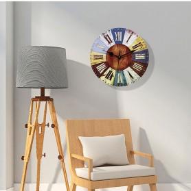 GOHAND Jam Dinding Bulat Quartz Creative Design Model Eropa Shabby Chic Rustic Vintage 30CM - D13296 - Multi-Color
