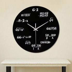 3DLM Jam Dinding Bulat Quartz Creative Modern Design Model Math Equation 30CM - C001 - Black - 2
