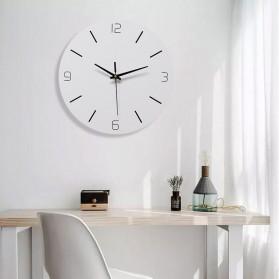 TIMESTYLE Jam Dinding Bulat Quartz Creative Nordic Modern Design 30CM - 0313 - White
