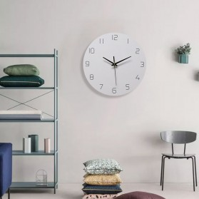 TIMESTYLE Jam Dinding Bulat Quartz Creative Nordic Modern Design 30CM - 0314 - White