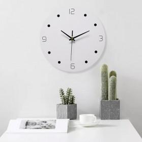 TIMESTYLE Jam Dinding Bulat Quartz Creative Nordic Modern Design 30CM - 0315 - White