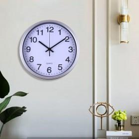 TC Jam Dinding Bulat Quartz Creative Nordic Modern Design 30CM - MRCW - Silver