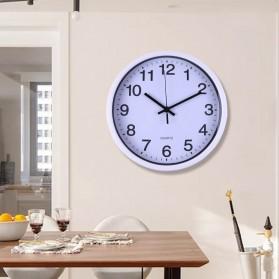 TC Jam Dinding Bulat Quartz Creative Nordic Modern Design 30CM - MRCW - White