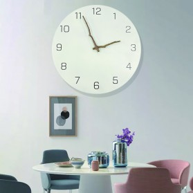 TIMESTYLE Jam Dinding Bulat Quartz Creative Nordic Modern Design - 0316 - White
