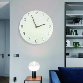 TIMESTYLE Jam Dinding Bulat Quartz Creative Nordic Modern Design - 0316 - White - 2