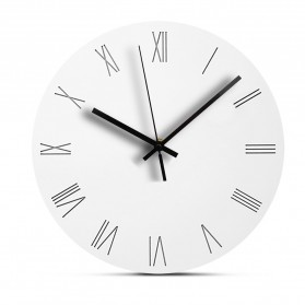 TIMESTYLE Jam Dinding Bulat Quartz Creative Nordic Modern Design 30CM - 0312 - White