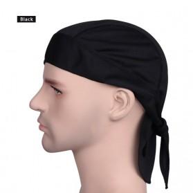 Deemount Bandana Sepeda Headband Cycling Sports Cap Quick Dry - HDW-003 - Black