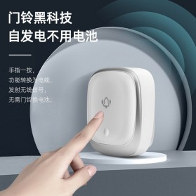 EARKONG Bell Pintu Wireless Doorbell LED 38 Tunes 1 Receiver -  B111 - White - 3